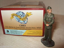 New Rare Britains Museum Collection 13003 US Marine in Green Winter Dress WW11