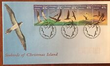 CHRISTMAS ISLANDS 1993 SEABIRDS STRIP 5 FIRST DAY COVER.     Pswa