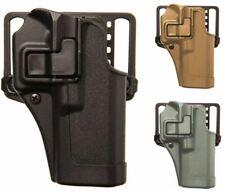 BLACKHAWK! SERPA CQC Concealment Belt OWB Holster, Matte Finish, Belt & Paddle