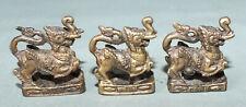Elephant Pendants Amulets Thailand Three Brass Lion -