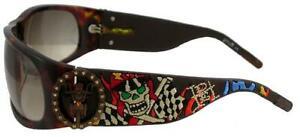 ED HARDY EHS-044 Revolution Damen Sonnenbrille Brille Sunglases Live to Ride