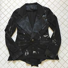h.NAOTO SEVEN Rare Gothic Military Blazer Jacket Jrock Vkei Visual Kei