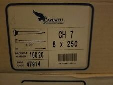Capewell City Head 7 Horseshoe Nails 1 Case of 8 Boxes 250 Pieces Farrier