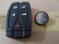 Land Rover 5 Button Dash Remote Key Fob Case + Battery VL2330 Fits Freelander 2