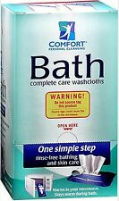 Disposable Washcloths COMFORT BATH Personal Cleansing Ultra-Thick (full box)
