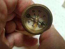Antique Marbles Gladstone Pin on Brass Compass Made In Michigan USA 1940's WWll