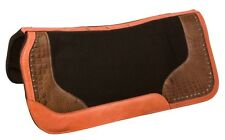 CONTOUR WOOL FELT SADDLE PAD LEATHER GEL INFUSED CLASSIC HORSE TACK THERAPEUTIC