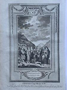 1770 Noah's Ark Biblical Print Original Antique Copperplate Engraving