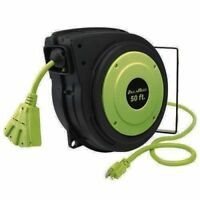 Legacy Flexzilla 50' Retractable 50 ft. Extension Cord Reel E8140503 Zilla Reel