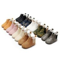 Baby Shoes Infant Toddler Boys Girls Boots Faux Leather Soft Soled Kids Booties