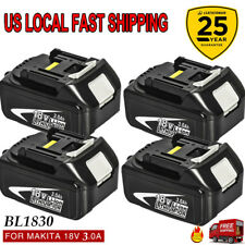 4X 18V 3.0Ah 1830B BATTERY LITHIUM ION FOR MAKITA BL1830 LXT HEAVY DUTY REPLACE