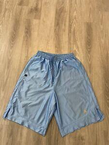 Men's Jordan Vintage Shiny Blue Basketball Shorts Size XL