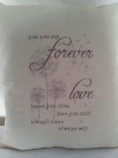 Cojín de máquina de bordado artesanal 14 X 14 in (approx. 35.56 cm) Forever Love B