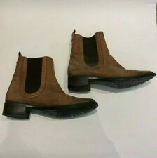 LADIES JONES ANKLE STYLE lEATHER BOOTS SIZE 6 BROWN TAN