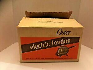 OSTER ELECTRIC FONDUE VINTAGE, FORKS, COOKBOOK
