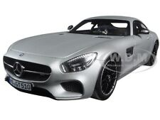 2015 MERCEDES AMG GT SILVER 1/18 DIECAST MODEL CAR BY NOREV 183495