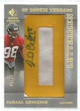 2007 UD SP Rookie Threads Football Jamaal Anderson Gold Auto Rookie Card # 46/99