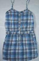 Womens AEROPOSTALE Plaid Pintuck Woven Henley Dress NWT #8663