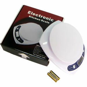 Brand New High Precision 7kg/1g White Electronic Kitchen Scale