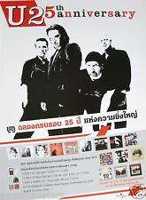 "U2 ""25th Anniversary"" Thailand Promo Poster - Group Standing Above Album Covers"