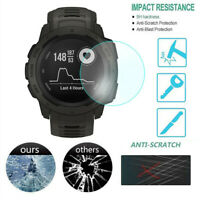 5Pcs Ultra Clear Film Tempered Glass Screen Protector for Garmin Instinct Watch