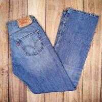 Vintage Levis 501 Jeans Straight Leg Button Fly Blue W33 L34