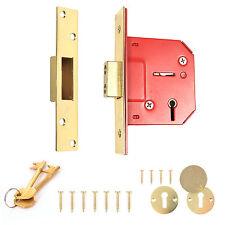 """High Security ~ GUARDIAN ~ 5 Lever Door Dead Lock 63mm/2.5"""" Mortice Escutcheons"""