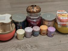 Yankee Candle - Lot of 11 Candles, Decorative Jar Lid and Wax Melts