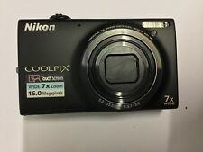 Nikon Coolpix 16 Megapixels Black S6100 Camera With Case, Battery 4GB SDHC Card
