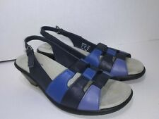 Hotter Mango Sandals Navy Royal Blue Womens Ankle Strap Womens Size 7