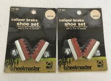vintage bicycle parts caliper brake shoe sets wheelmaster brand still in package