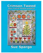 CRIMSON TWEED QUILTING PATTERN Softcover Book Sue Spargo Folk-Art Quilts NEW