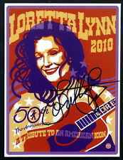 2010 Original LORETTA LYNN Signed AUTOGRAPH on 50th ANNIVERSARY Postcard Photo