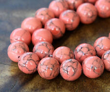 10mm Magnesite Round Beads - 15 inch strand - Choose Color