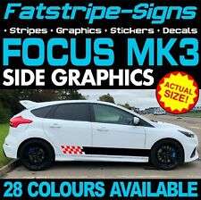 FORD FOCUS MK3 GRAPHICS STICKERS STRIPES DECALS TITANIUM X ZETEC ST RS TURBO 2.0