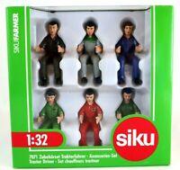 Tractor Drivers 6 Men 1:32 Accessories Set Siku 7071  3+ NEW