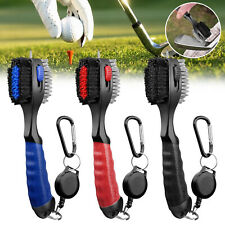 2 Sided Golf Club Brush Cleaner Retractable Groove Cleaning Tool Kit with Spike