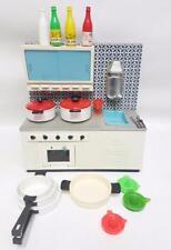 Cucina in latta per bambole marchesini bologna anni 70 + accessori kitchen 30x30