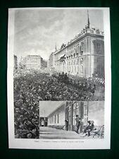 Spagna 1897 - L'assassinio e i funerali di Antonio Canovas del Castillo