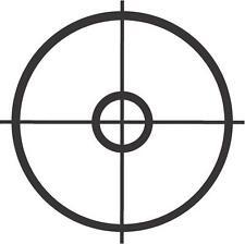 "Sniper Crosshair Military Car Window Decor Vinyl Decal Sticker- 6"" Wide White"