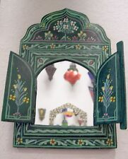 Moroccan Decoration Mirror Wood Colorful Painted Wall Bathroom Dresser Handmade