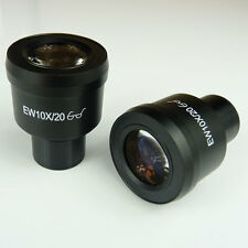 Pair EW10X/20 10x High Eye-Point Widefield Microscope Eyepiece 23mm EW10X