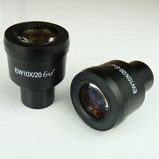 Pair EW10X/20 10x High Eye-Point Widefield Microscope Eyepiece 23mm EW10X