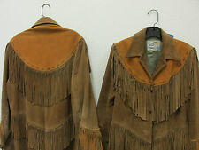 HIS & HER's Pioneer Wear Leather Jackets, with fringe, fully lined vintage