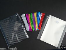"50 X 6"" CAKE POP KIT BLACK PLASTIC LOLLIPOP STICKS PLUS 4""x6"" CELLO BAGS & TIES"