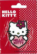 Toppa termoadesiva Hello Kitty Cuore Ricamata patch toppe adesive cm 6 x 5,5