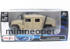 MAISTO 31974 HUMMER HUMVEE 1/27 DIECAST TAN DESERT SAND