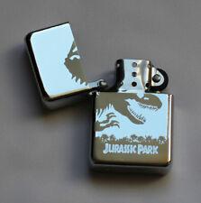 JURASSIC PARK -  chrome petrol lighter - dinosaur [Cd:252.mc-45-lP.] mini poster