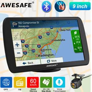 "9""AWESAFE Bluetooth GPS Navigation Truck Navigator with Reverse camera & AU Map"