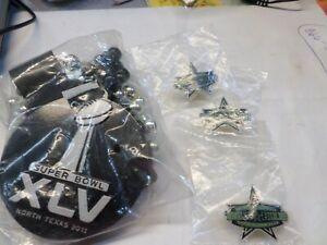 Cowboys True Blue pin (3) and Super bowl XLV Necklace